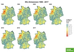 Gridded NH3 emissions from 1990 until 2017