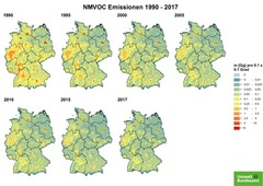 Gridded NMVOC emissions from 1990 until 2017