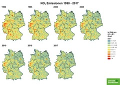 Gridded NOx emissions from 1990 until 2017