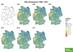 Gridded PM 10 emissions from 1990 until 2017