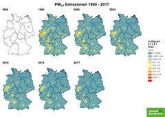 Gridded PM 2.5 emissions from 1990 until 2017